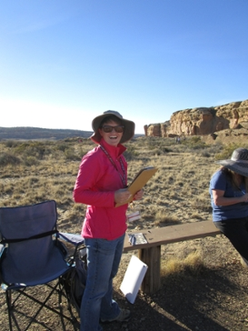 Maren Svare at Chaco Cultural Historic Park in New Mexico